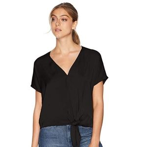 Lucky Brand Tie Front Top (S)